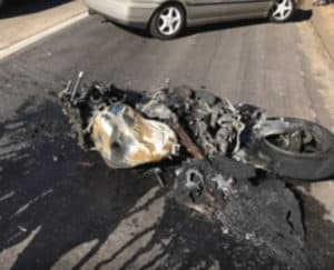San Diego Motorcycle Crash and Burn - San Diego Motorcycle Crash and Burn