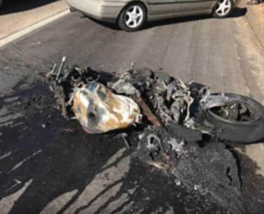 San Diego Motorcycle Crash and Burn